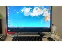 "HP All in One Desktop 27"" PC. Windows 10, i3 Intel 1TB HDD"