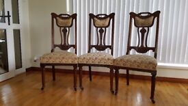 3 x Victorian/Edwardian chairs   £20