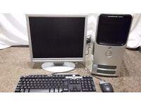 Windows 10 Dell Computer PC,Dual Core 2.8ghz,large 3GB RAM,500GB,LCD monitor,DVDRW,Wifi,Office 2013