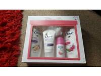 dove just beautiful gift set with full size items brand new unopened
