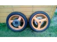 Honda 125cc wheels with good tyres
