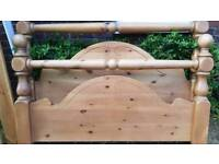 King Size Waxed Pine Bed Frame