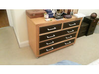 BARGAIN: Dwell stylish chest of drawers, mirror and wardrobe in great condition, all yours for £70