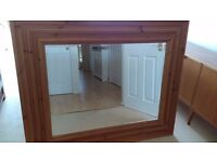 "SOLID PINE FRAMED EXTRA LARGE MIRROR....56 INCHES X 45 INCHES .. ""THAT IS LARGE"""