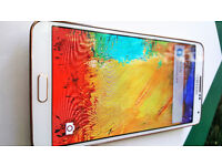 AS NEW BOXED RARE WHITE GOLD SAMSUNG GALAXY NOTE 3-III SM-N9005 -32GB-VODAFONE