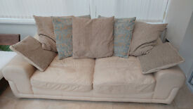 Leather Sofa in Cream