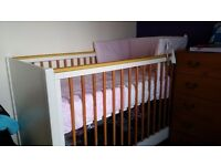 Mamas and papas Cot bed and changing unit
