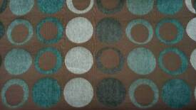2 Pairs of Next Teal Spot Curtains & Cushions
