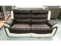 Brand New ScS Fiesta Leather 3 Seater Power Recliner Sofa & Power Recliner Armchair **CAN DELIVER**