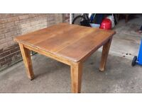 Antique Solid Oak extendable dining table