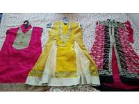 Brand new indian pakistani Asian party wedding diwali anarkali girls dress bollywood outfit 3,4