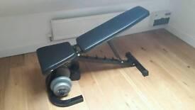 Adjustable flat bench