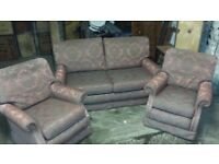 Matching Settee with 2 single chairs