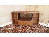 Wooden TV Stand with Drawer