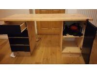 Wooden computer desk (Ikea)
