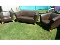 Ikea leather suite / FREE DELIVERY