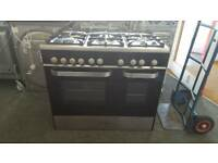 New graded Kenwood 90cm gas cooker with 12 months guarantee