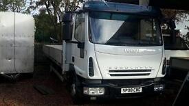 Stunning 2008 iveco 75e18se 20 ft aluminium dropside truck low km final price no vat