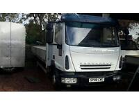 Stunning 2008 iveco 75e18se 20 ft aluminium dropside truck low km final price no vat