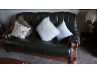 TWO AND THREE SEAT LEATHER SETTEE