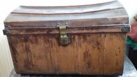 Big handy tin trunk
