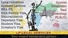 Immigration Service and Visa advice. Tier 1, Tier 2, Tier 4, Tier 5, ILR, Appeal, EEA Application.