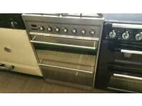 60cm dual fuel smeg cooker ...hardly used !!!