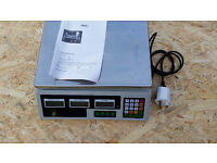 Digital Fruits Weighing 40kg Computing Price Scale Electronic Adapter Shop