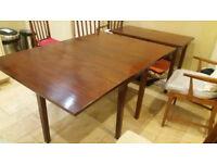 Large folding mahogany dining table - antique