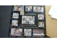 Grandchildren picture frame holds 10 pictores
