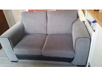 2 seater grey couch perfect condition