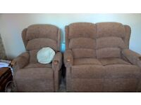 Recliner chair and matching 2 seat settee