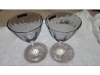 Biba handmade glasses x 2 UNUSED
