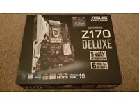 Asus Z170 Deluxe Intel ATX Motherboard - BOXED with accessories.