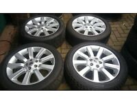 GENUINE 20 RANGEROVER AUTOBIOGRAPHY ALLOY WHEELS ALSO VW T5 T6 TRANSPORTER SPORT