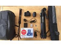 Canon 600D camera and accessories