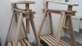 Two trestles from IKEA