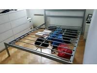 Stylish metal king size bed frame Ealing broadway