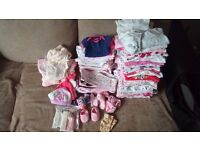 100 Baby girl clothes bundle- from tiny baby up to 1 month