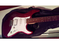 Yamaha Pacifica 012 R/H Electric Guitar, Fender Strap, New Case and Lead - Like New Red Metallic