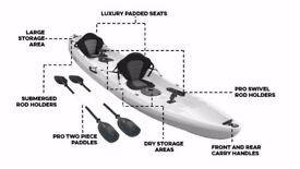 Bluefin Tandum Double fishing Kayaks.