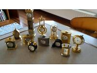 Collection if miniature clocks