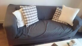 1 IKEA Two-seat sofa KLIPPAN Flackarp medium grey