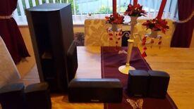 set of 6 panasonic surround sound speakers in good working order + phillips surround speakers