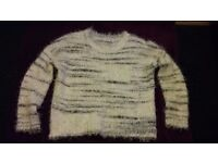 Black and white new look jumper size 12