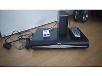 Sky hd box and sky hub router