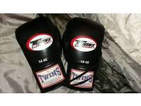 Twins Special 14oz Muay Lace Up Thai Boxing gloves
