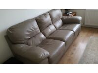 3 seater soft leather sofa plus armchair