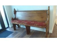 """GENUINE VINTAGE CHURCH PEW,RECENTLY RECOVERED,W-57 H-37"""" D-19"""", VIEWINGS AT GROOMSPORT"""
