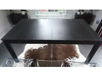 Ikea Dining Table Kitchen Table BJURSTA Large Rectangular Extendable table Brown-black. Used
